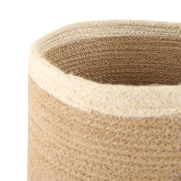 Medium Striped Jute Basket