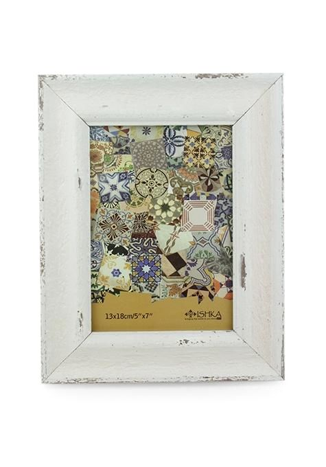 Medium White Wash Photo Frame