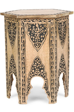 Mehrab Carved Side Table