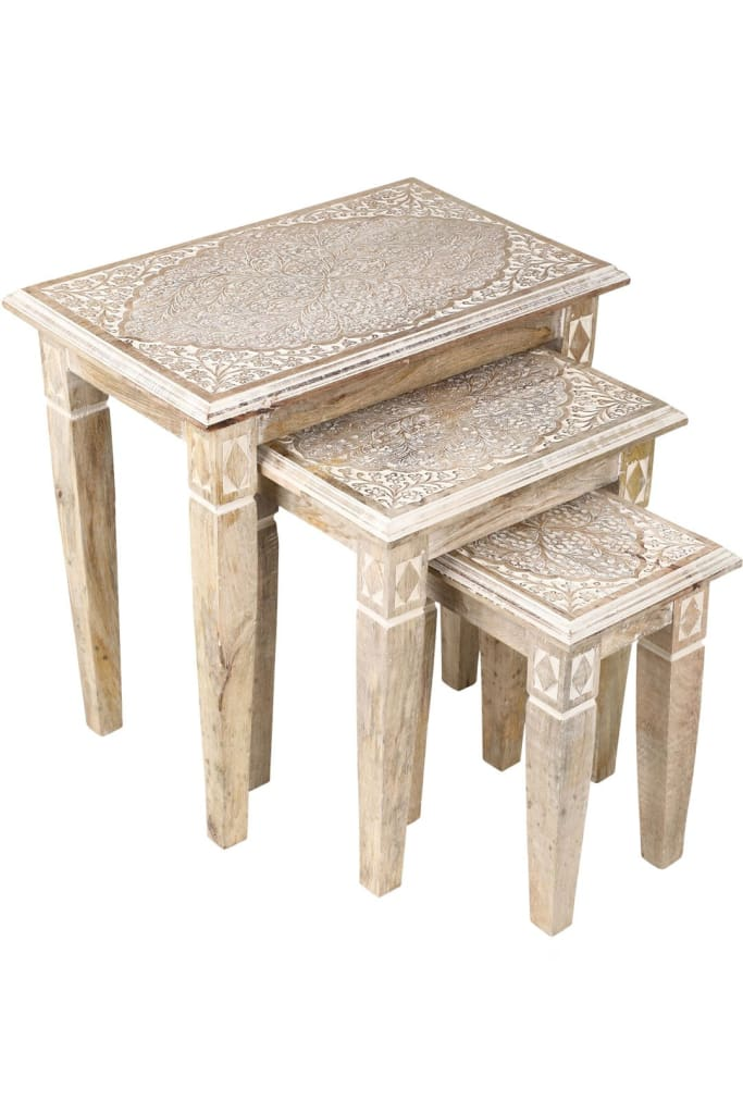Mehrab Set of 3 Nesting Tables