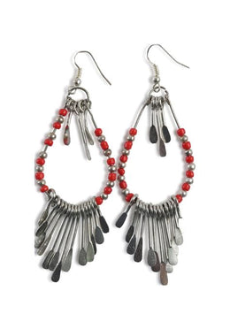 Metal Tassle Earrings