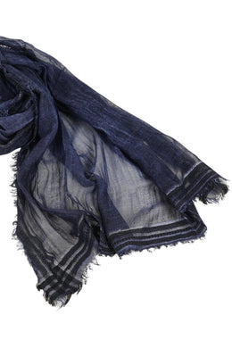 Metallic Raw Edge Scarf