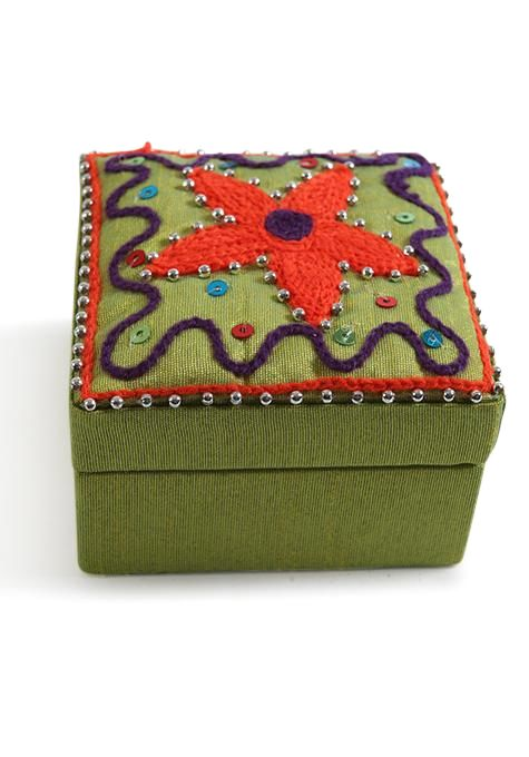 Mini Embroidered Box