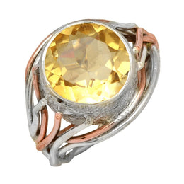 Mixed Metal Citrine Ring