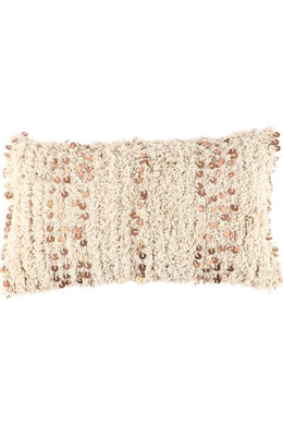 Moroccan Shaggy Coin Cushion