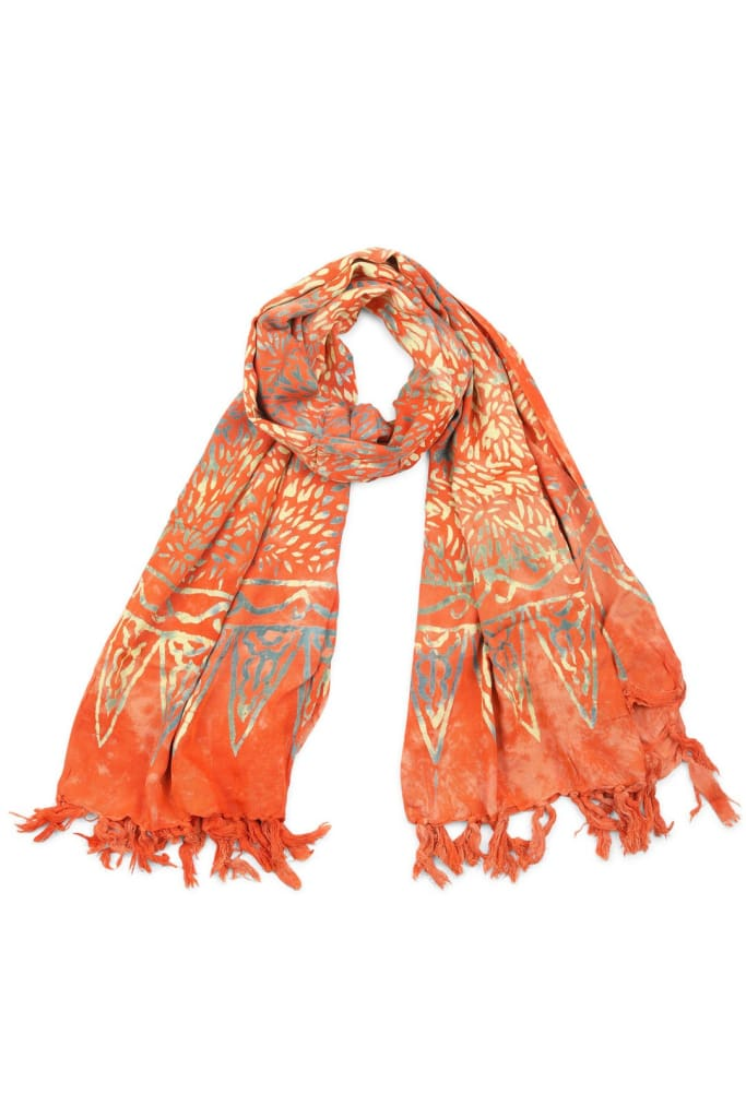 Mottled Orange Sarong