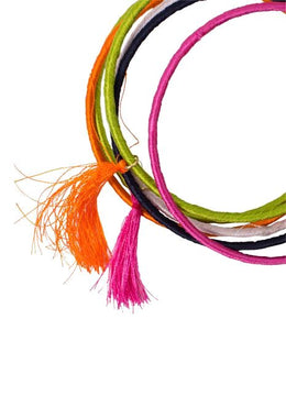 Multi Coloured Cotton Bangles