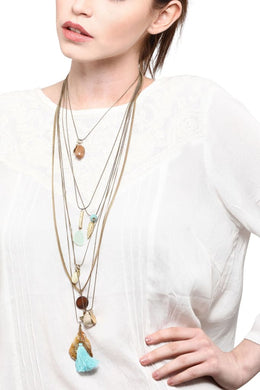 Multi Layered Charms Necklace
