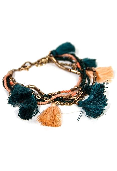Multi Tassel Bracelet Set