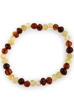 Multicolour Amber Beaded Bracelet