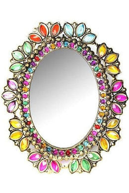 Multicolour Beaded Table Mirror