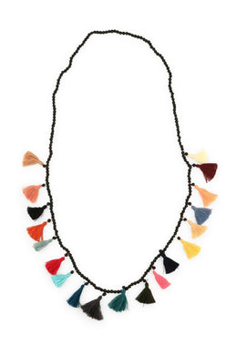 Multicolour Tassels Bead Necklace