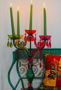 Multicoloured Beaded Candelabra