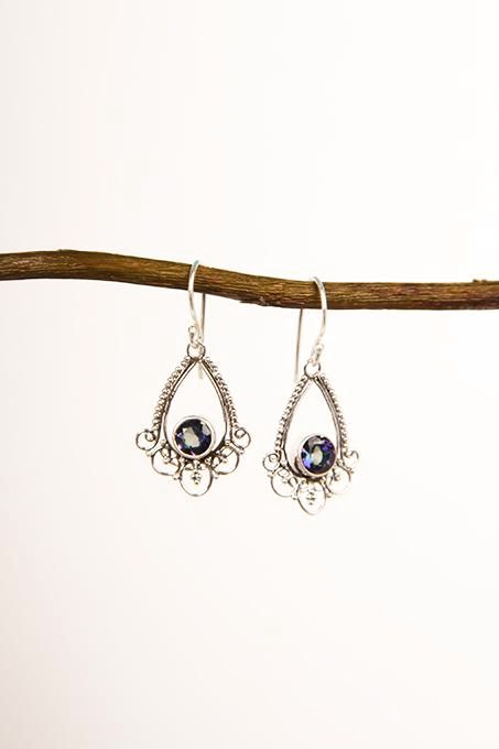 Mystic Topaz Filigree Earrings