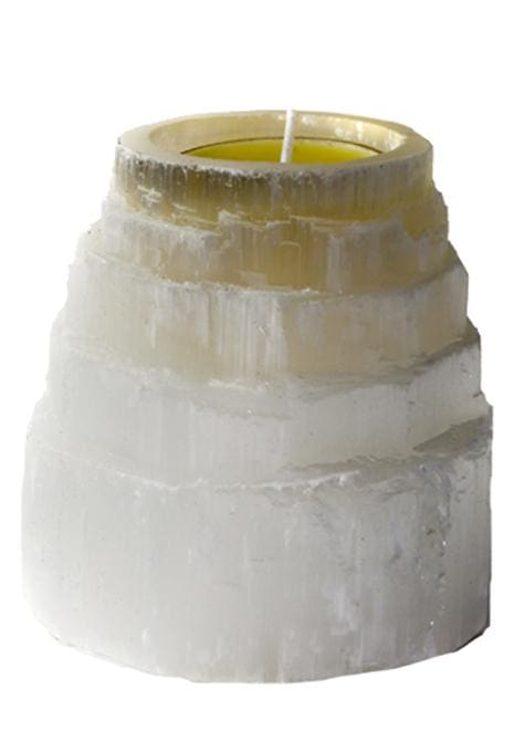 Mystique Mountain Selenite Tealight Holder