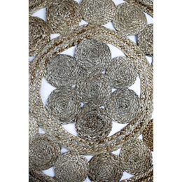 Natural Flower Jute Rug Medium