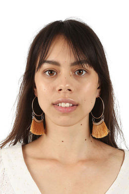 Natural Fringing Hoops