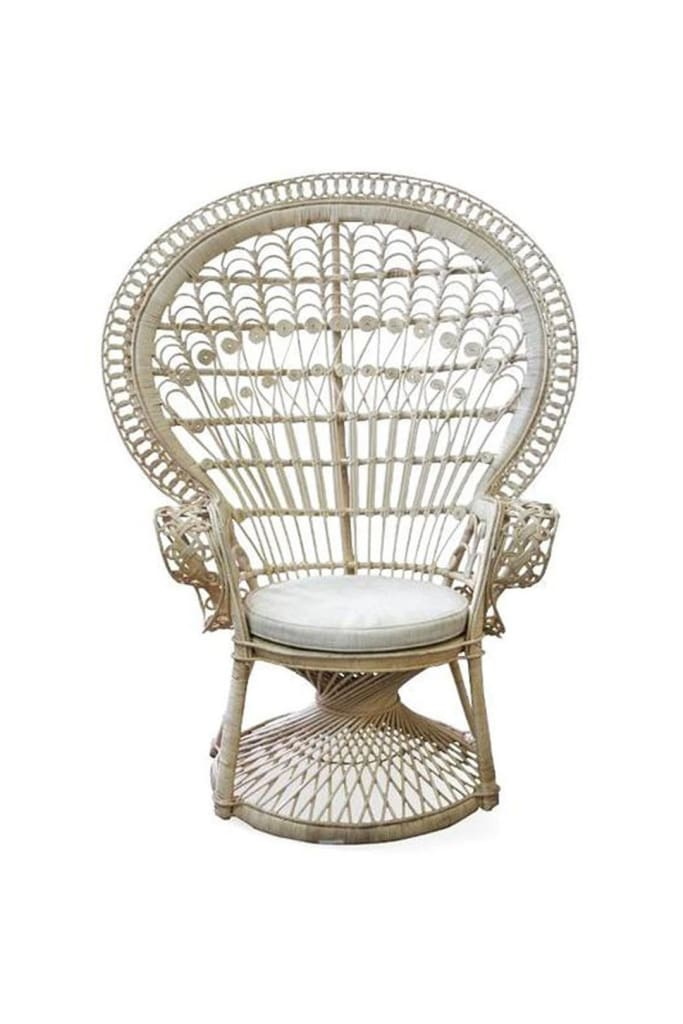 Natural Rattan Peacock Armchair Ishka