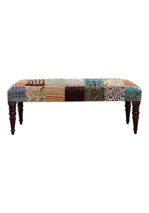 Natural Velvet Patch Bench