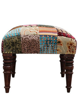 Natural Velvet Patch Stool