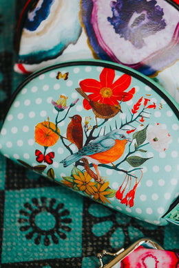 Nature Print Make-Up Purse
