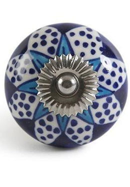 Navy Base Ceramic Knob