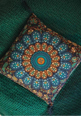 Navy Mandala Cushion