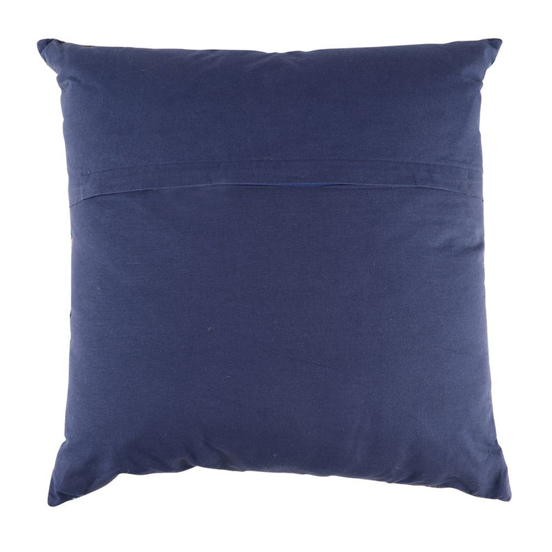 Navy Sari Cushion