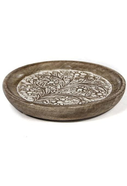 Olivia Carved Plate - Small