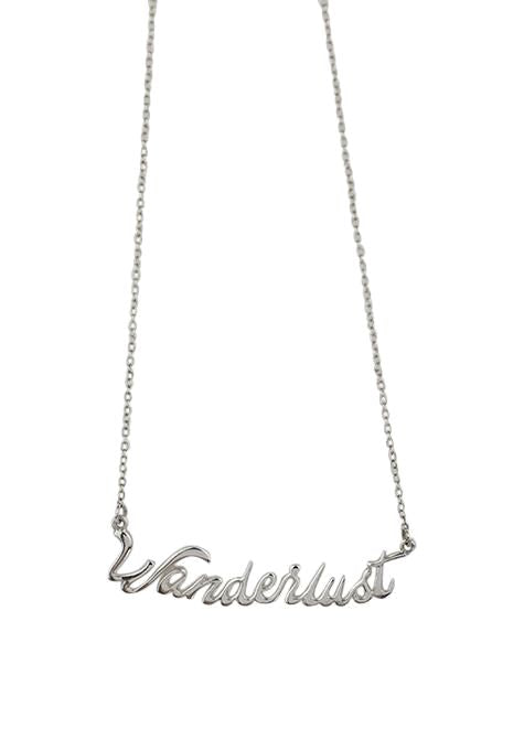 One Word Wanderlust Necklace