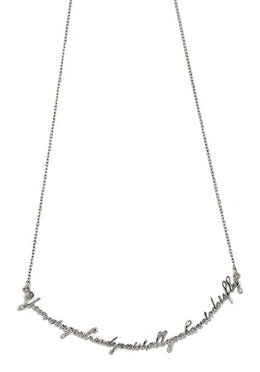 One Word Wings Necklace