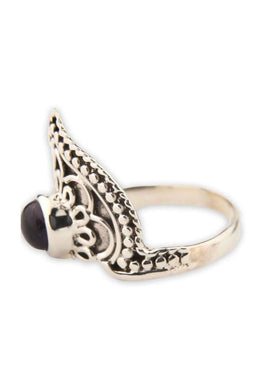 Onyx Mandala Point Ring