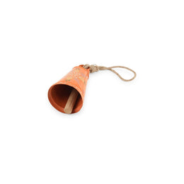 Orange Handpainted Bell - Large