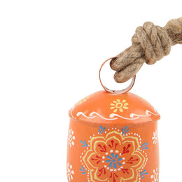 Orange Handpainted Bell - Small