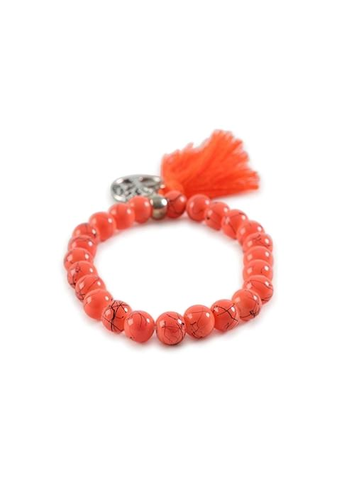 Orange Tree Of Life Bracelet