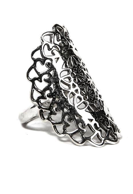 Ornate Flower Of Life Ring