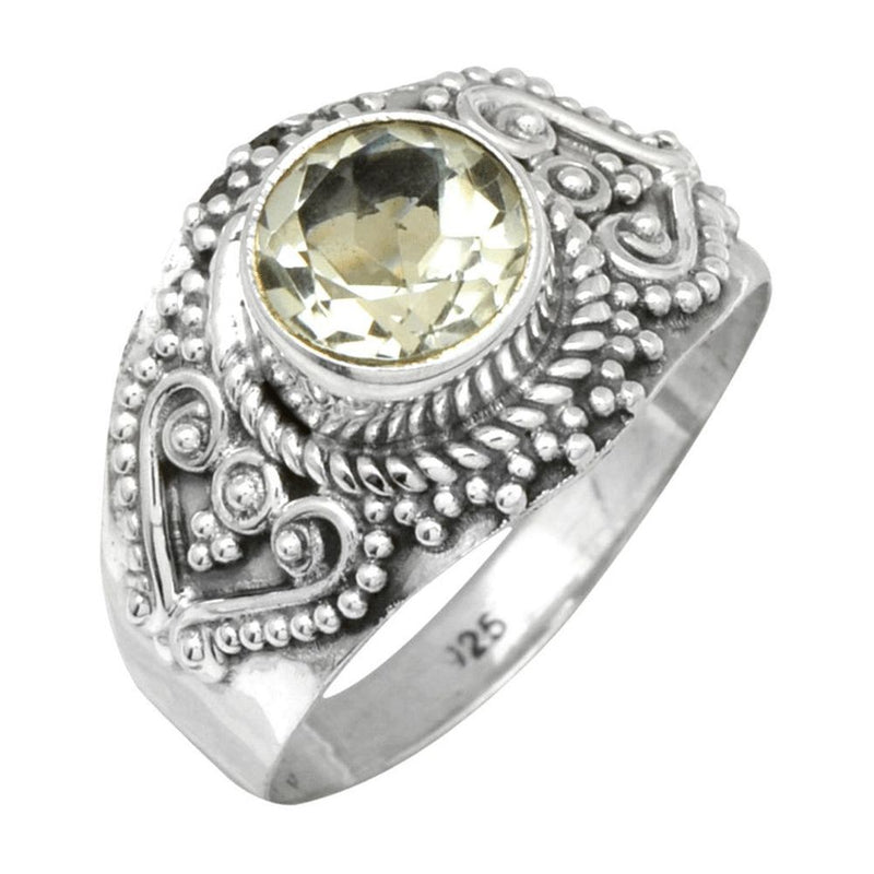 Ornate Green Amethyst Ring