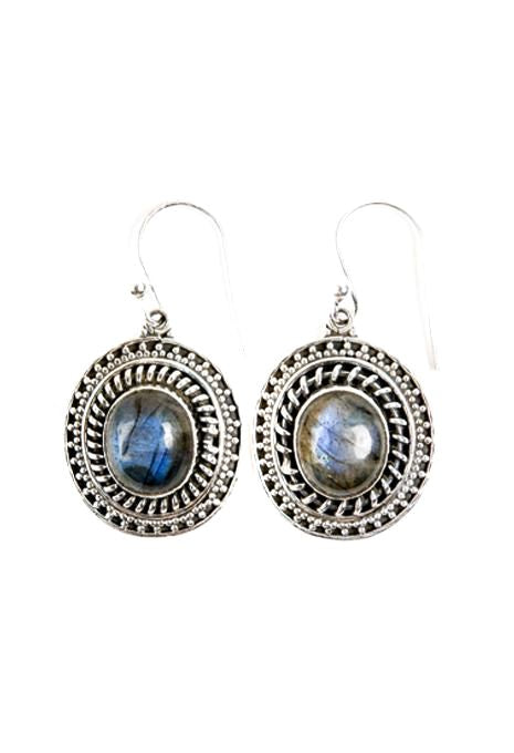 Ornate Labradorite Earrings