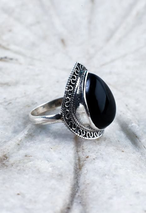 Ornate Tear Drop Ring