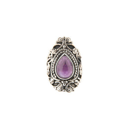 Ornate Teardrop Amethyst Ring