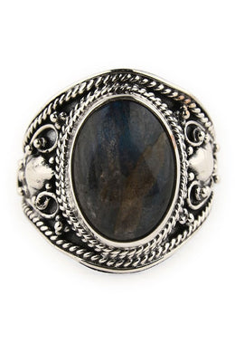 Oval Labradorite Statement Ring