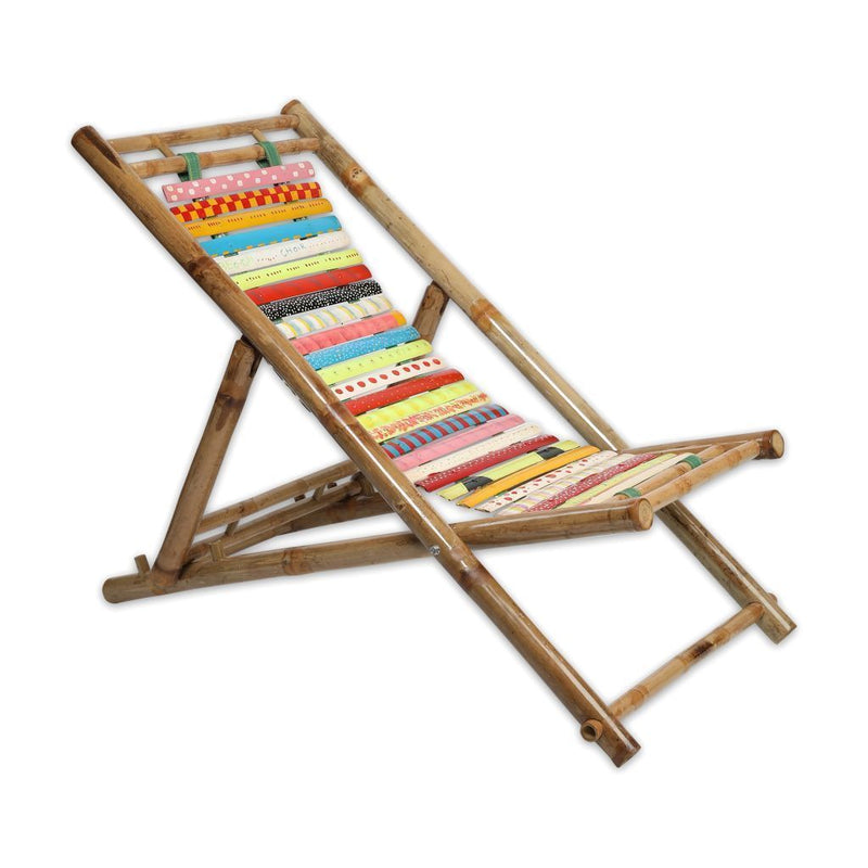 Painted Bamboo Beach Chair