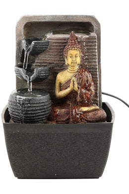 Painted Buddha Mini Fountain
