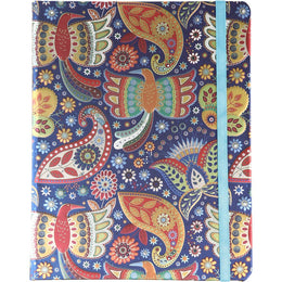 Paisley Birds Foil Notebook