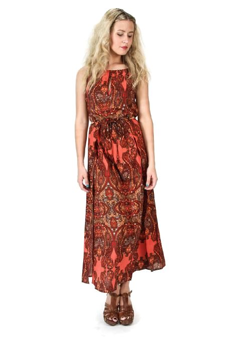 Paisley Cut Out Maxi