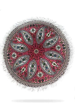 Paisley Pink Round Throw