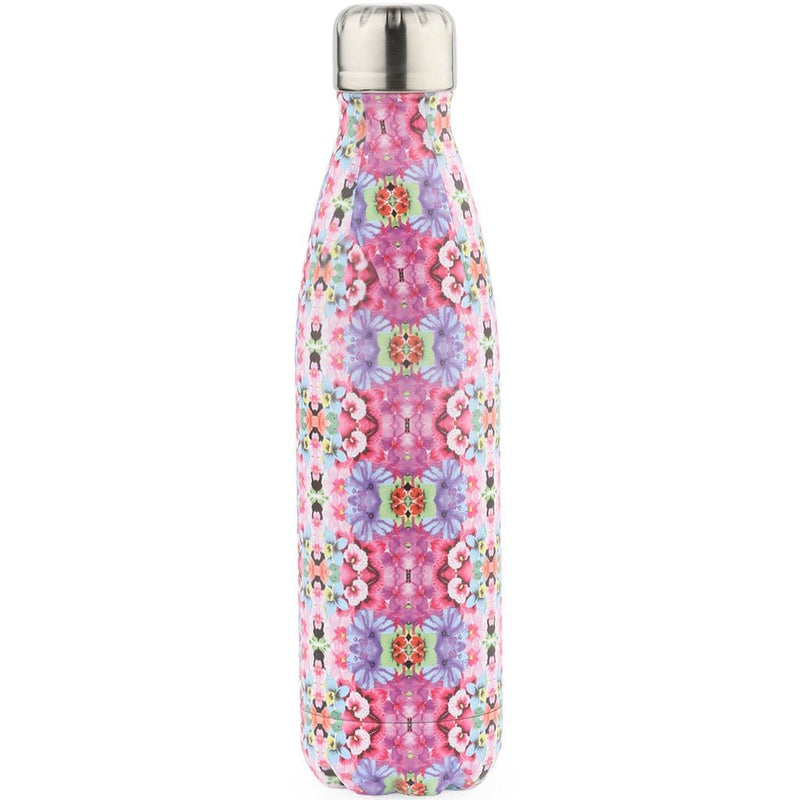 Pink Print Water Flask