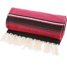 Pink Stripe Mexican Throw