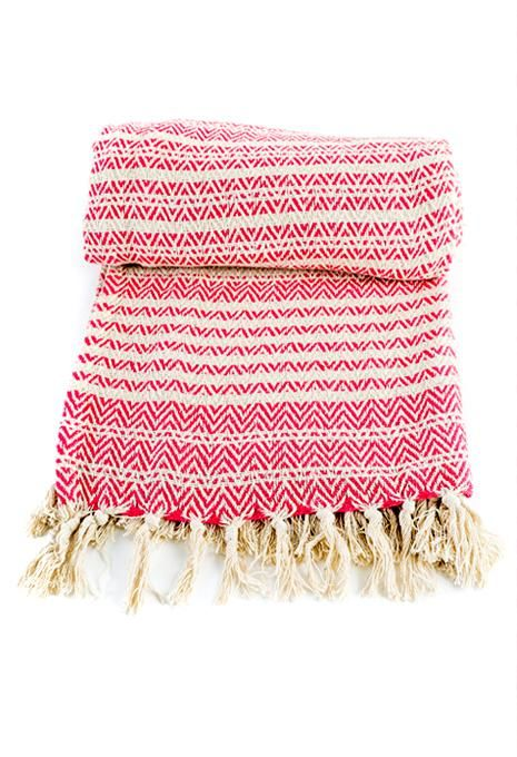 Pink Stripe Throw