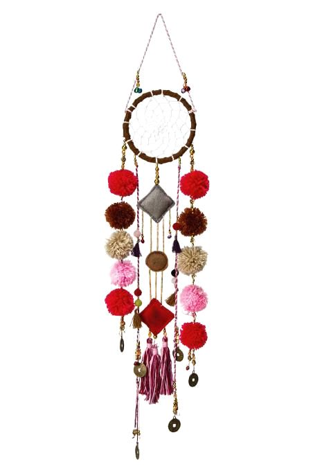Pom & Tassles Dream Catcher